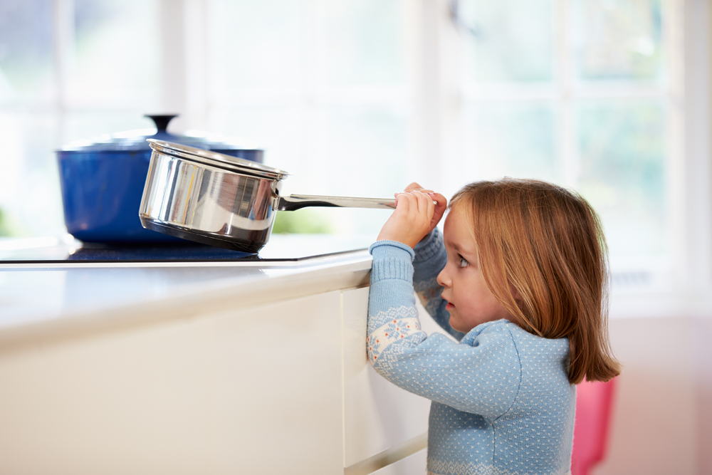 scalding hot water